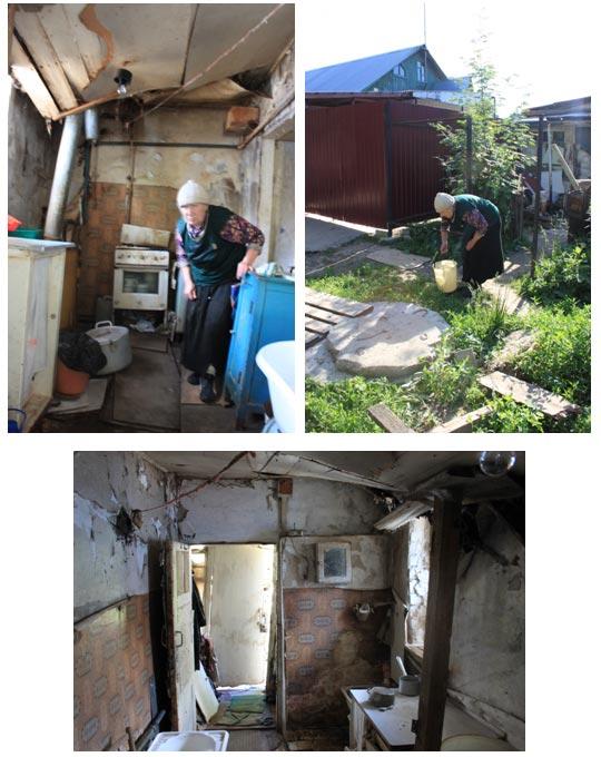Рязанская пенсионерка-инвалид живет в сарае